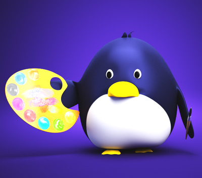 Deal Penguin 3D Character Cartoon Animation
