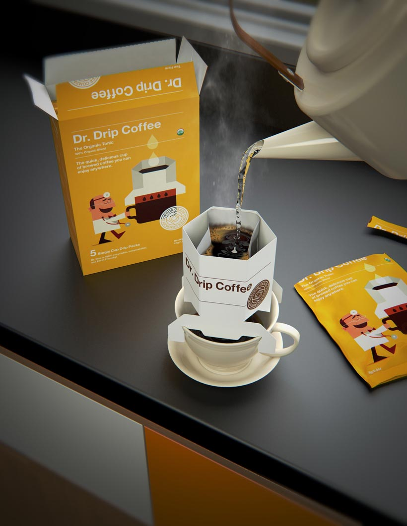 Dr Drip 3D Packaging Visualisation