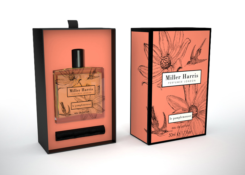 Miller Harris 3D Fragrance CGI Packaging