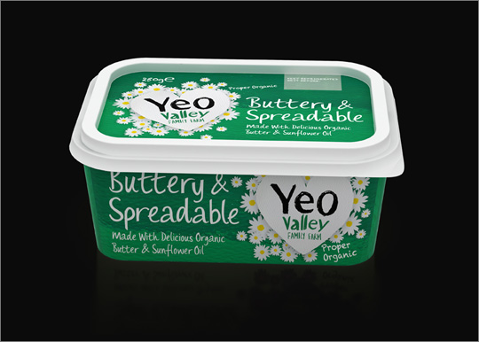 Yeo Valley 3D Butter Packaging Visualisation